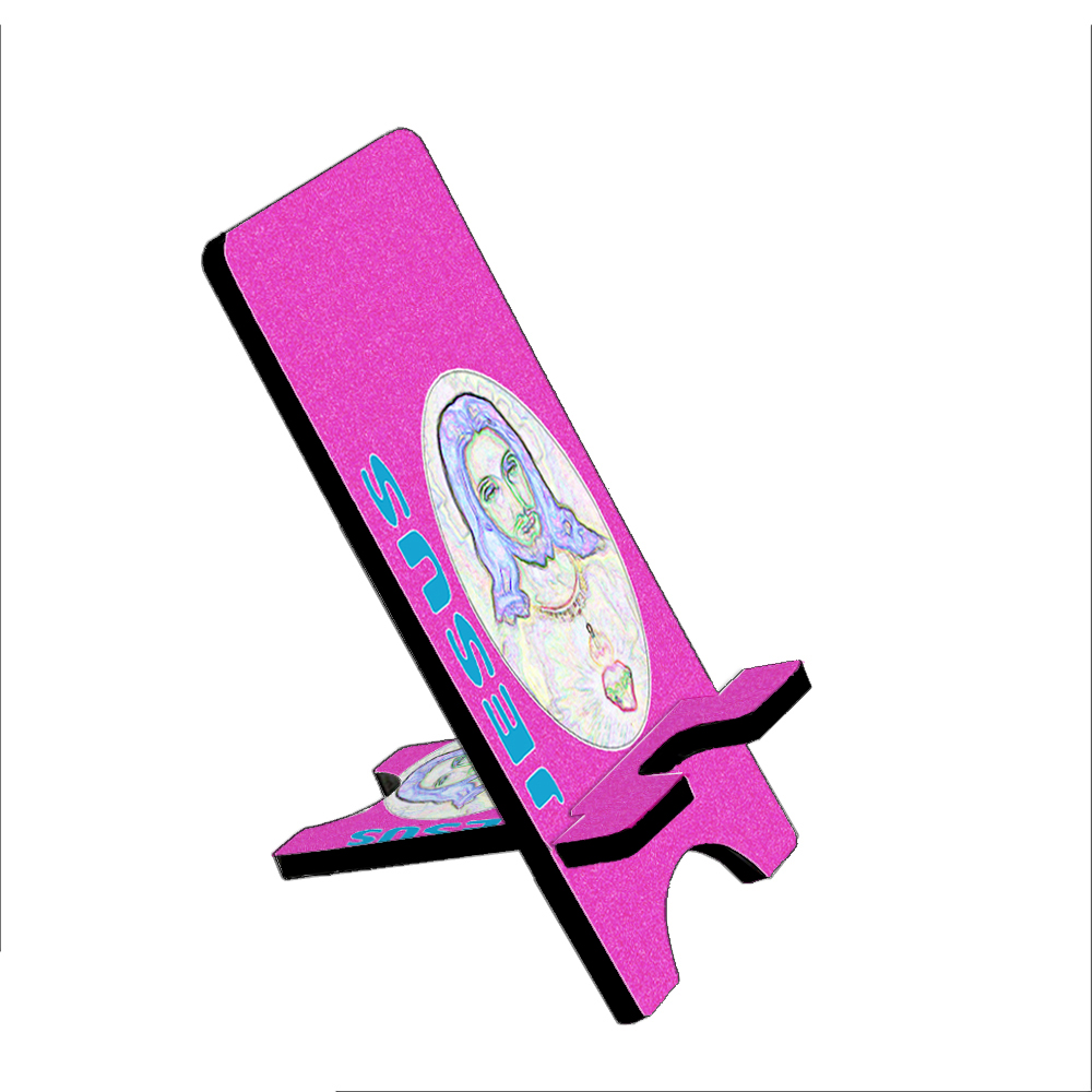 Electric Jesus Pink - KuzmarK Folding Stand fits iPad Mini iPhone Samsung Galaxy