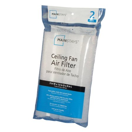 Mainstays 2pk antibacterial ceiling fan air filter walmart mainstays 2pk antibacterial ceiling fan air filter aloadofball Gallery