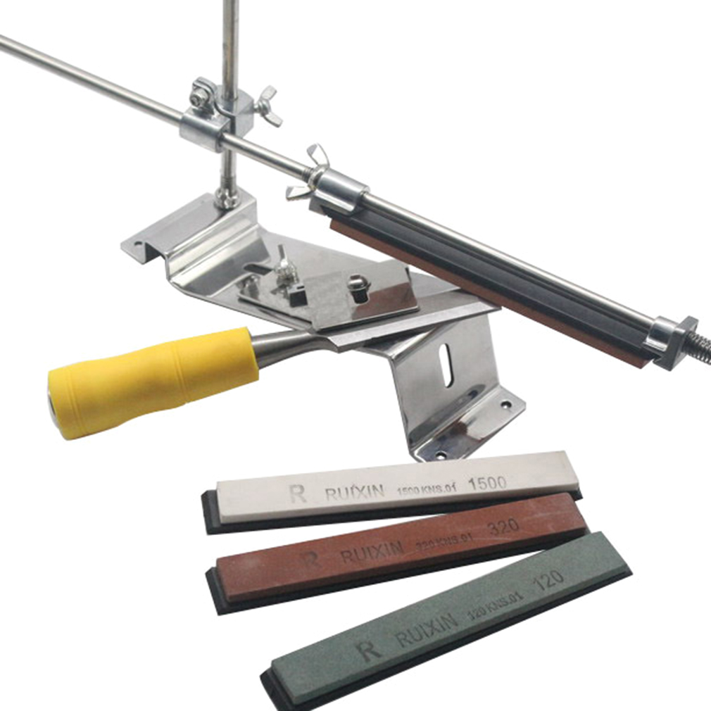 Professional Knife Sharpener Sharpening System Fix-angle With 4 Stones by LESHP