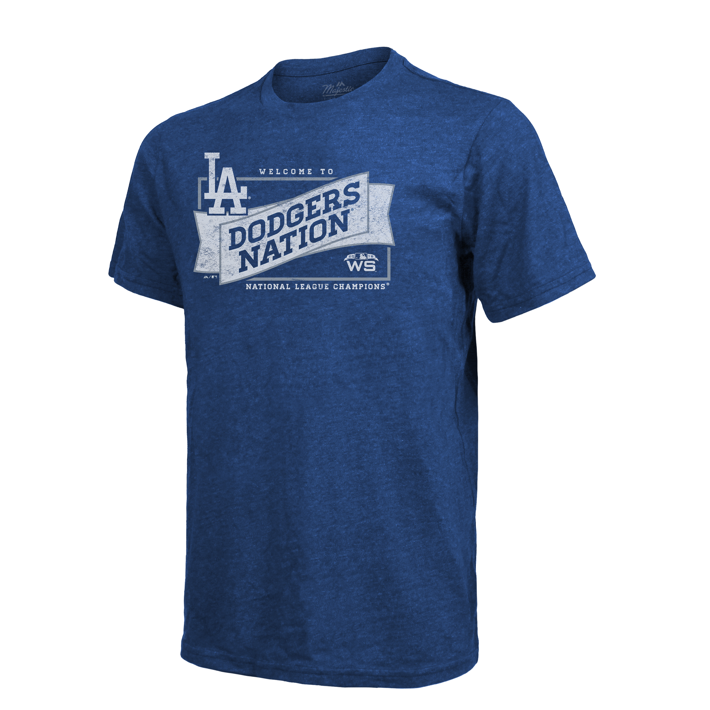 Los Angeles Dodgers Majestic Threads 2018 National League Champions Master Tri-Blend T-Shirt - Royal