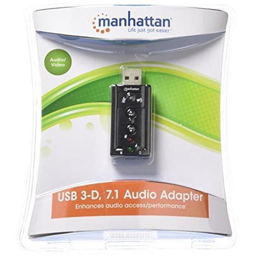 Manhattan 151429 Hi-Speed USB 3D 7.1 Sound Adapter
