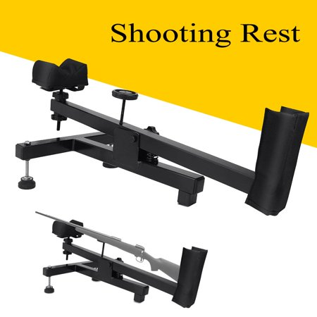 WALFRONT Shooting Rest Rifle Stable Rifle Stand Bench Shooting Rest Air Gun Shoot Bench Sighting Benchrest Steady Padded Stand for Range Shooting, Scope Sighting, Cleaning,