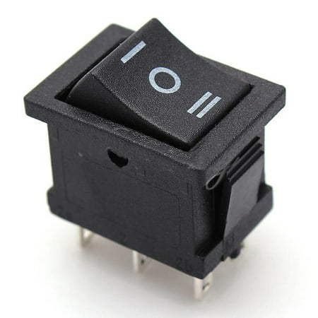 Dpdt Mini Switch - on/off/on 3-position 6-pin dpdt snap-in boat rocker switch ac 6a/250v 10a/125v