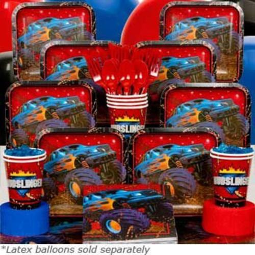 Monster Truck Deluxe Birthday Kit - Party Supplies