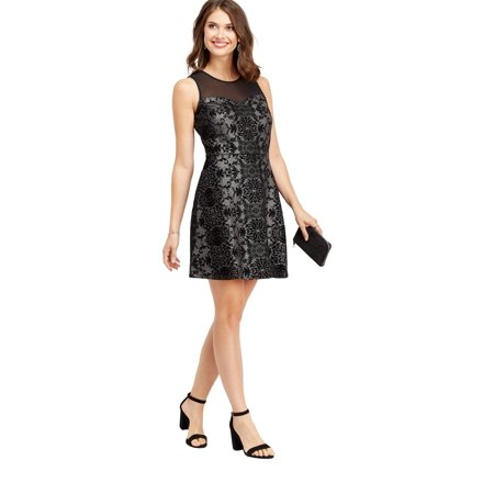 a632db35848 maurices - Silver Flecked Mesh Dress - Walmart.com