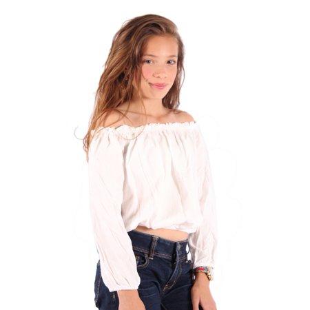 Lori   Jane Girls White Off Shoulder Top