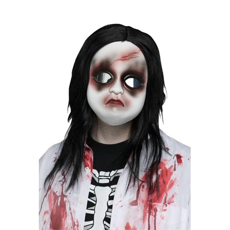 Freaky Face Doll Mask With - Broken Doll Mask
