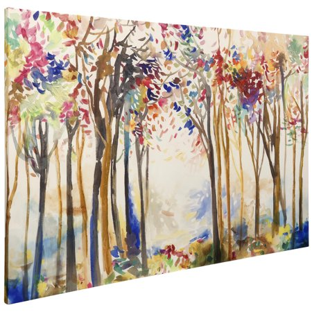 Animated Forrest - Stretched Canvas Wall Art - Animated Halloween Props Walmart