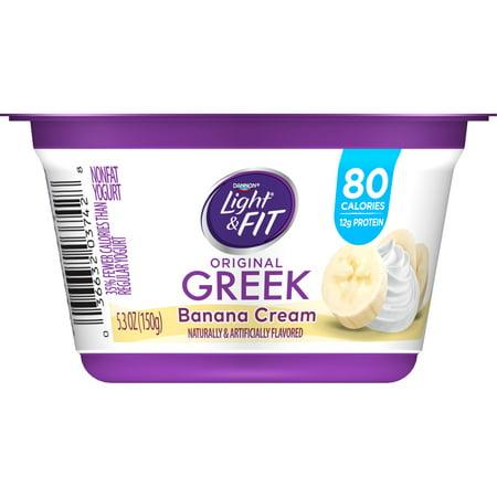 & Fit Greek Banana Cream Nonfat Yogurt