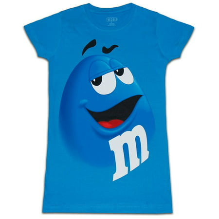Junior Faces - M&M's Chocolate Candy Character Face Juniors T-Shirt