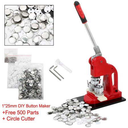 yaheetech 1inch 25mm button badge maker machine with extra 500pcs