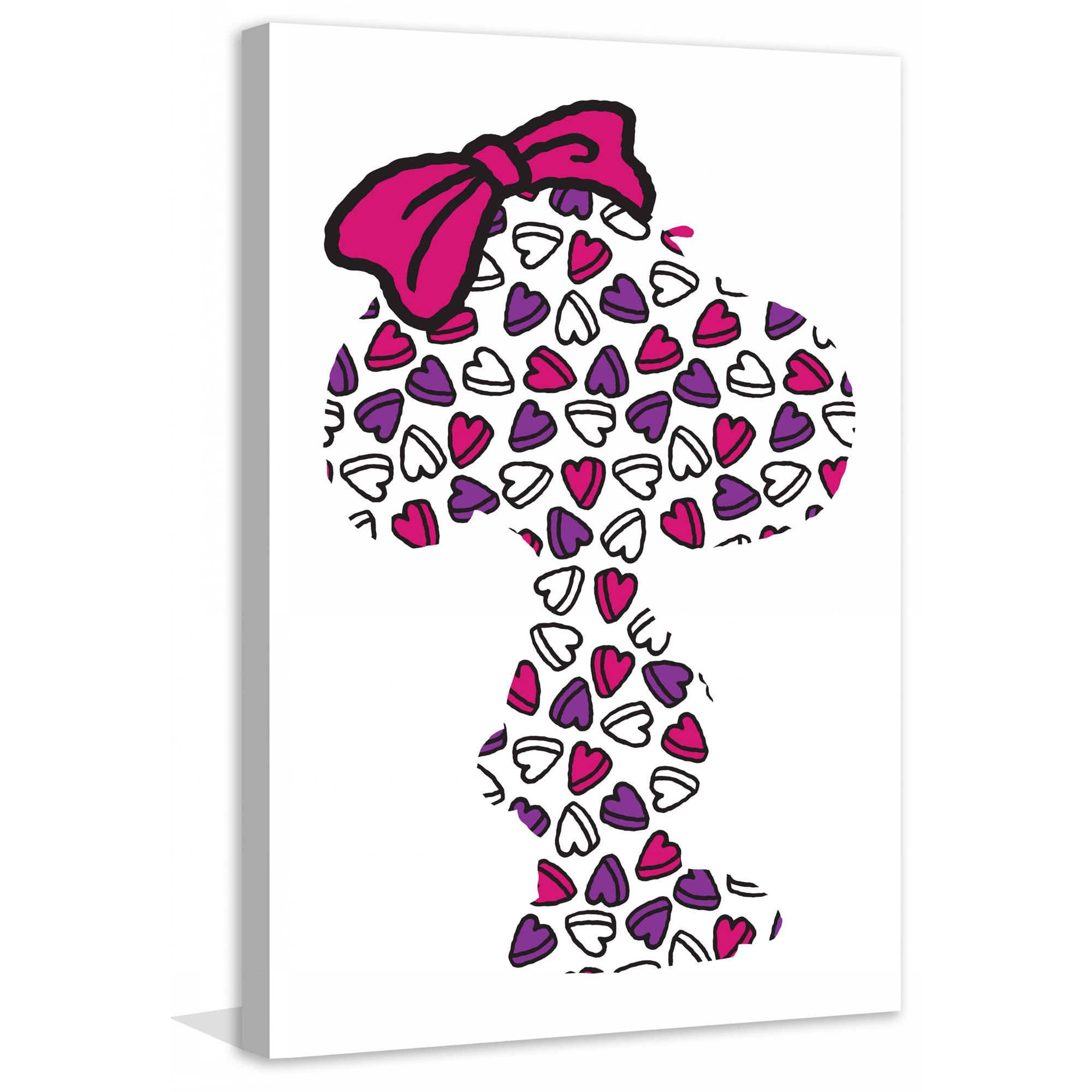 "Marmont Hill ""Belle Hearts"" Peanuts Print on Canvas"