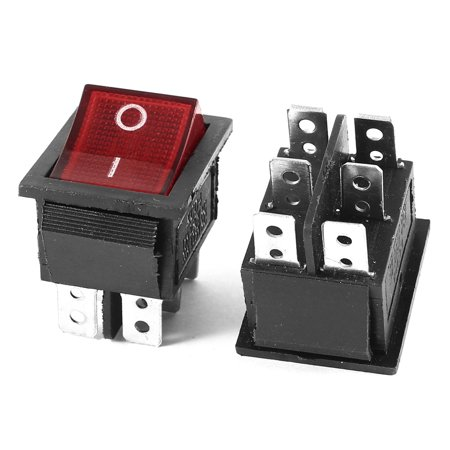 Rocker Switch Single Pole (2 x  250V/15A 125V/20A Single Pole Double Throw I/O Rocker Switch )