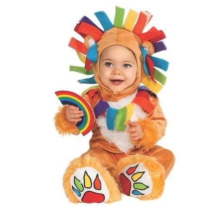 Lucky Lion Colorful Rainbow Infant Safari Animal Halloween Costume - Safari Animal Halloween Costume