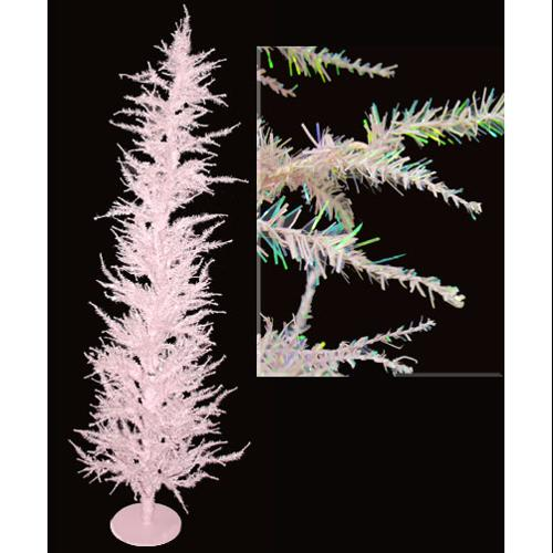 Whimsical Pink Laser Artificial Christmas Tree 4'