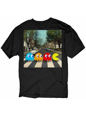 0c6f2df83 Product Image Pac-Man Crossing Beatles Abbey Road Black Adult T-Shirt