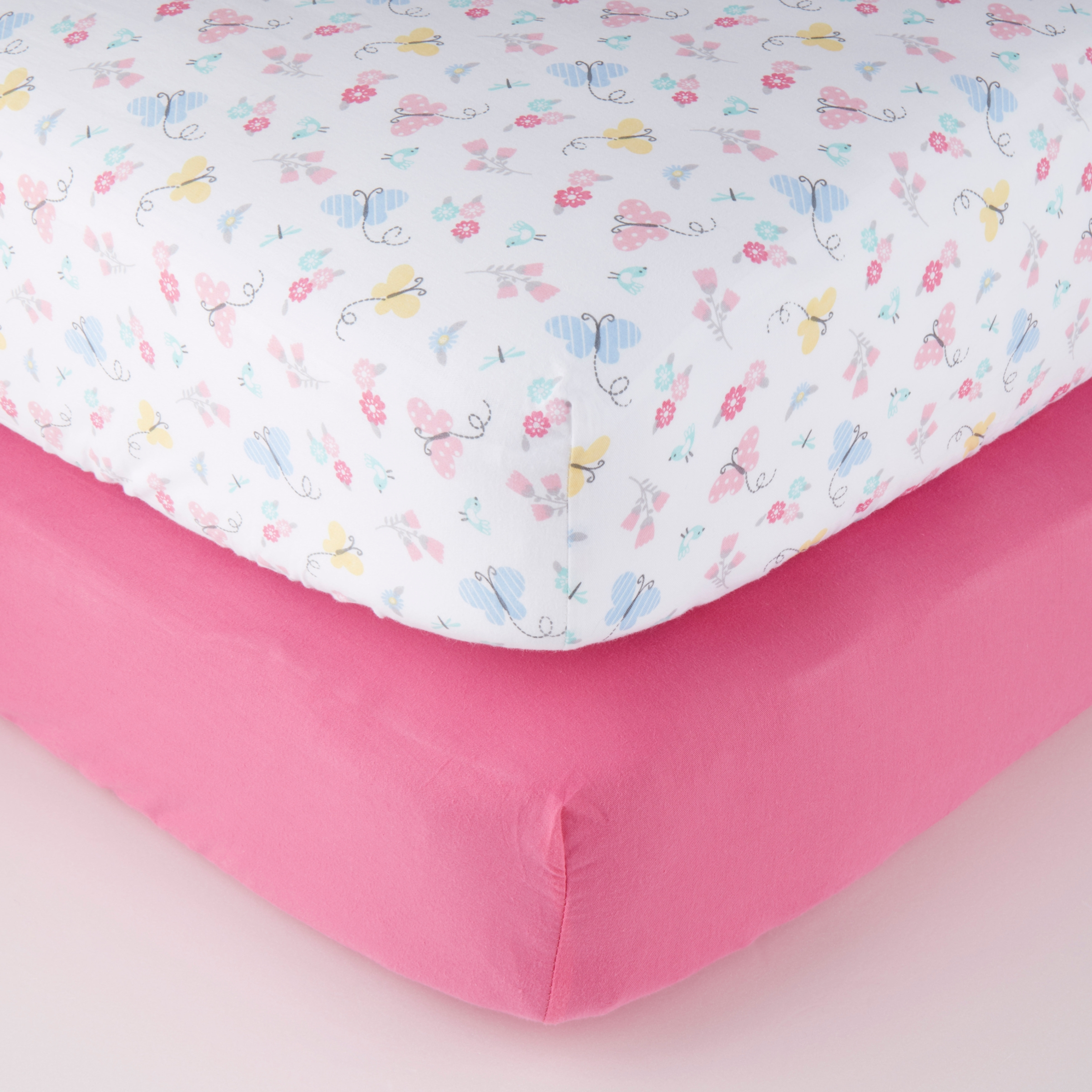 2x Cot Fitted Sheet Deluxe Baby 100/% Cotton 120x60cm