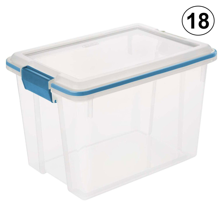 Sterilite 19324306 20 Quart Storage Container Box Tote