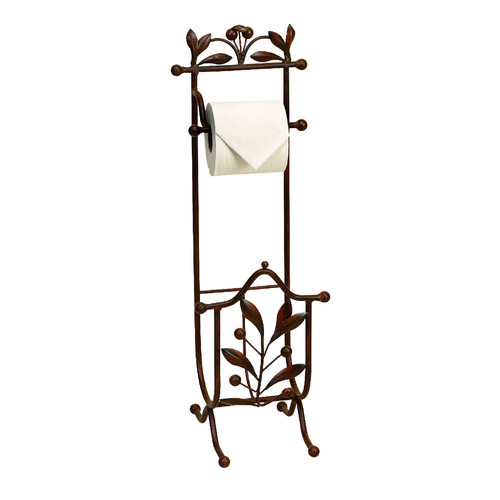 woodland imports free standing toilet paper holder