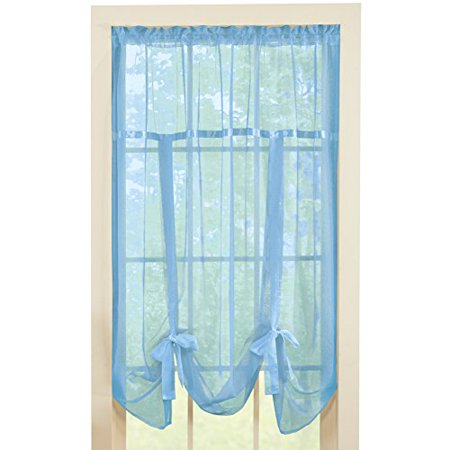Collections Etc Sheer Tie Up Shade Curtain ()