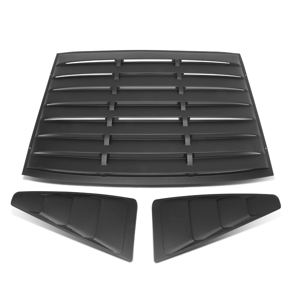 For 2005-2014 Ford Mustang Coupe 3Pcs Vintage Style Rear + L/R Quarter Side Window Louvers