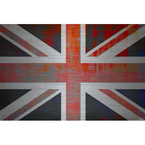 Parvez Taj Union Jack - Metal Art Print on Brushed Aluminum