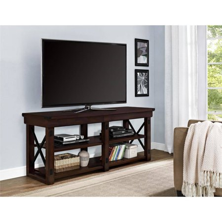 Better Homes and Gardens Preston Park TV Stand for TVs up to 65″, Mahogany