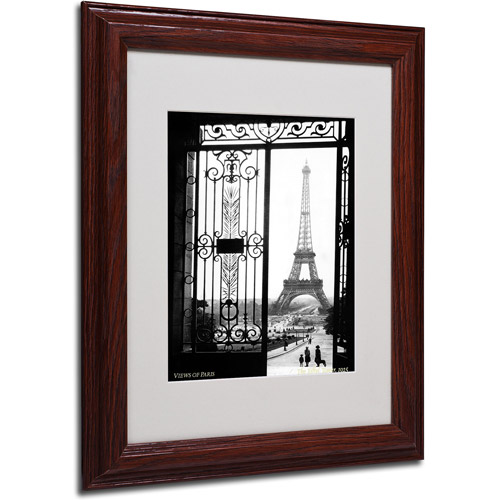 Trademark Fine Art 'Views of Paris' Framed Matted Art by Sally Gall
