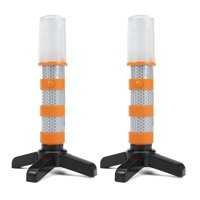 Moaere Early Warning LED Road Flares Alternative to Roadside Safety Triangle High Reflective Far Visible 2 Pack Kit with Storage Case