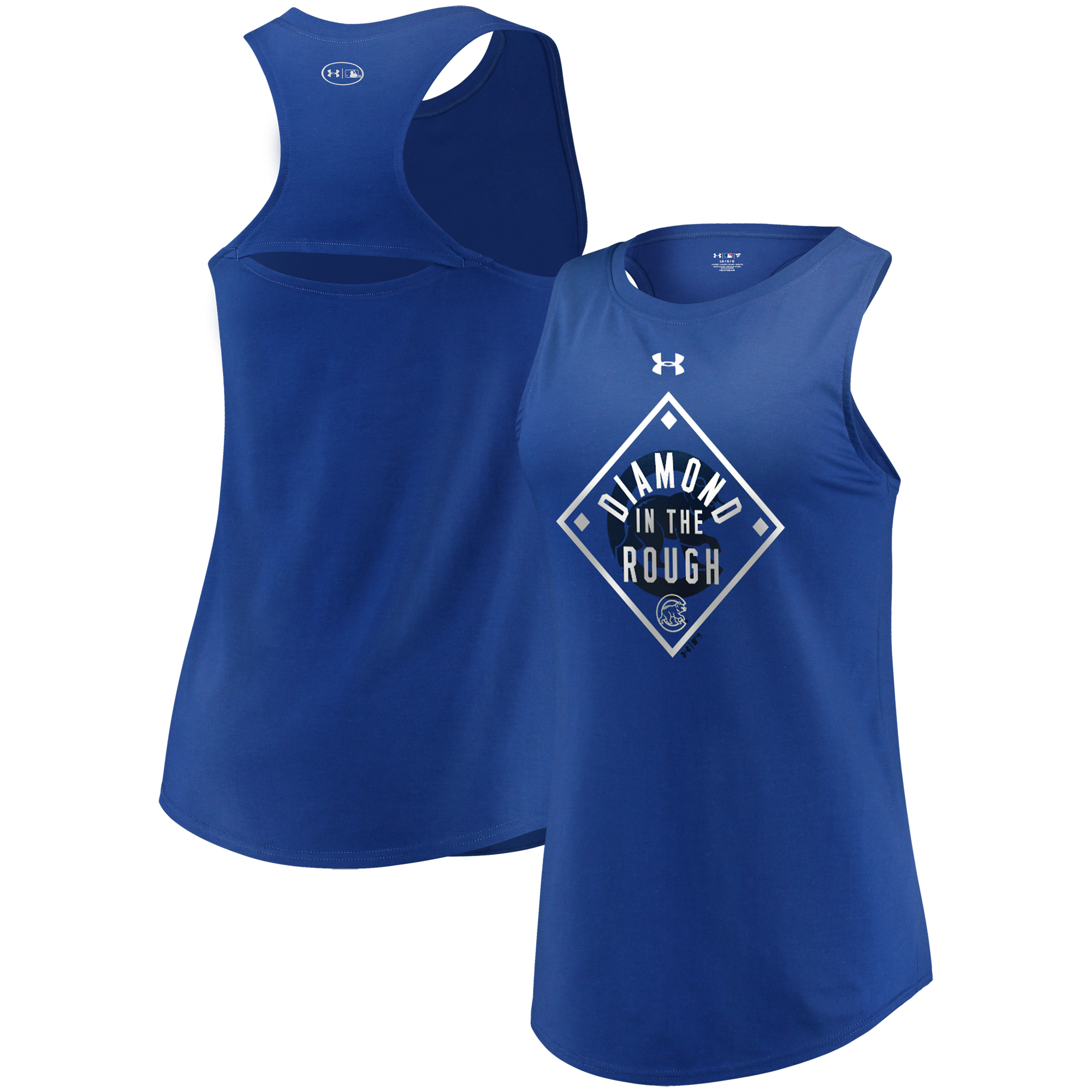Chicago Cubs Under Armour Women's Passion Diamond Tri-Blend Performance Tank Top - Royal