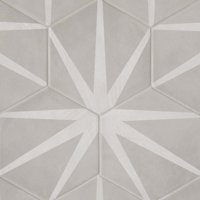 "Allora 8.5"" x 10"" Hexagon Porcelain Decorative Tile in Stella (12.67 SqFt/Ctn)"