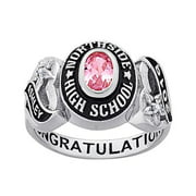Personalized Women's Celebrium Sweetheart Class Ring with CZ Accents (Order by Nov 30th for Holiday Delivery)