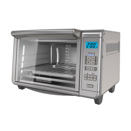 - BLACK+DECKER 6-Slice Digital Convection Toaster Oven, Stainless Steel, TO3280SSD