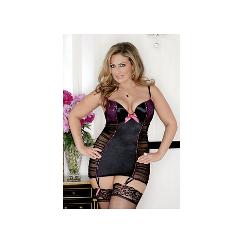 iBasic Intima After Hours Chemise Diva Kit 8091X Fuschia