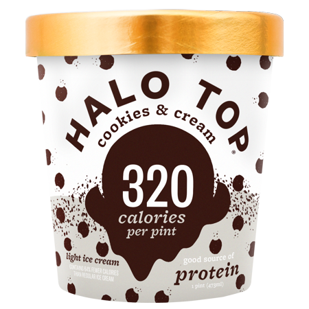 Halo Top Cookies Cream Ice 1 Pint