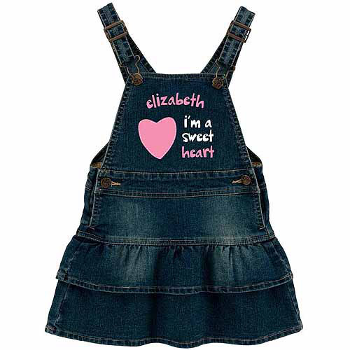 Personalized Sandra Magsamen Sweet Heart Denim Dress