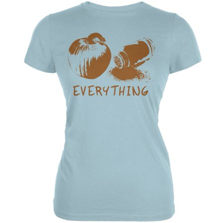 Pumpkin Spice Everything Aqua Juniors Soft T-Shirt (Halloween Aqua Lyrics)