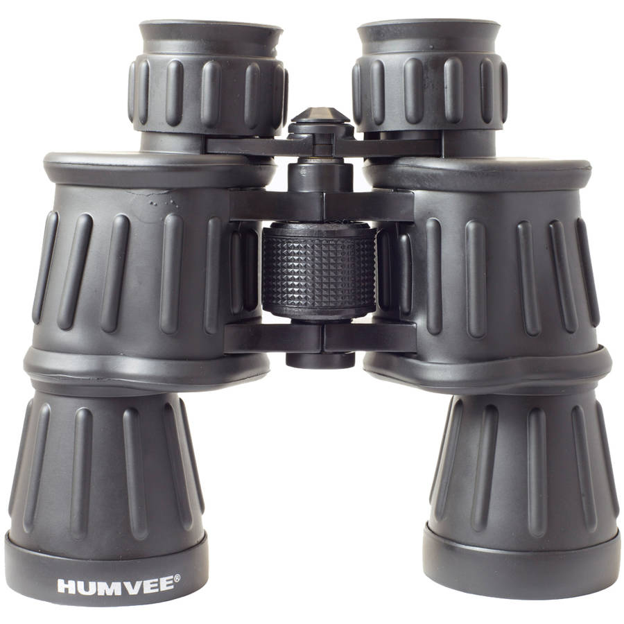 Anti-Reflective Rubber Armor Field Binocular, Humvee, Black, Comes in Multiple Sizes