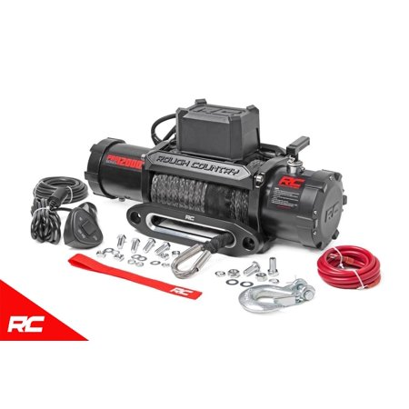 Rough Country 12,000 LB PRO Series Electric Winch w/ Synthetic Rope PRO12000S Pro Series Electric Winch (Chicago 3000 Lb Winch Camouflage Design Atv Utility)