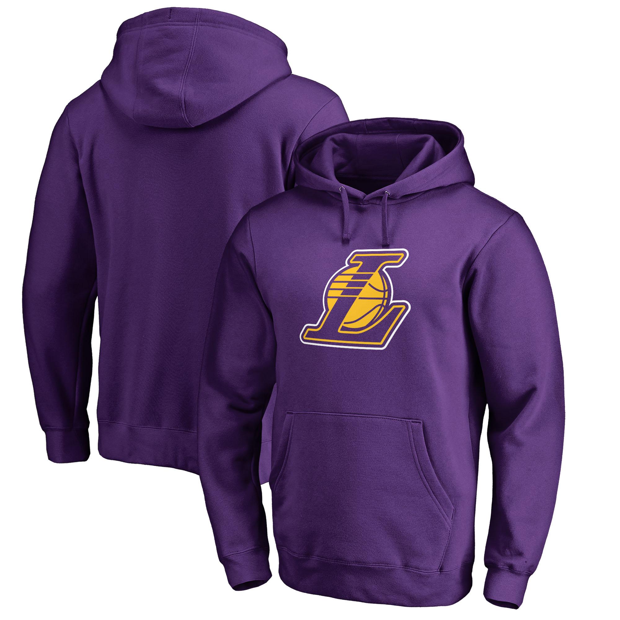 Los Angeles Lakers Fanatics Branded Alternate Logo Pullover Hoodie - Purple