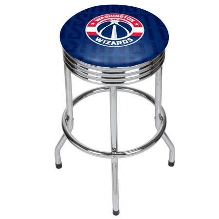 NBA Chrome Ribbed Bar Stool - City - Washington Wizards