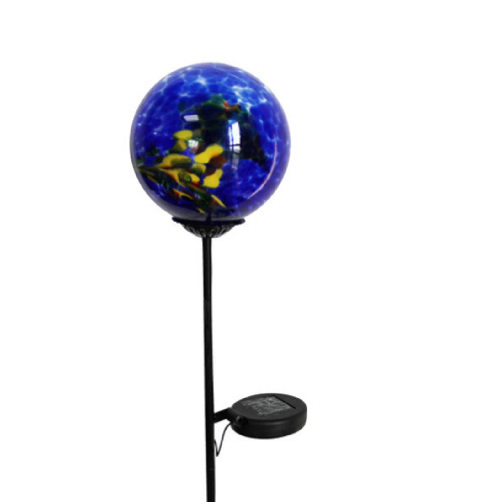 Moonrays 92563 Solar Powered White Led Swirled Glass Gazing Ball Stake Light by Coleman Cable Inc