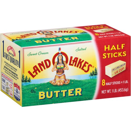 Land O Lakes Sweet Cream Salted Sweet Butter Half Sticks, 8 count, 1 lb