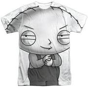 Adult Cartoon Comedy TVShow Stewie Plotting Adult Front Print T-Shirt