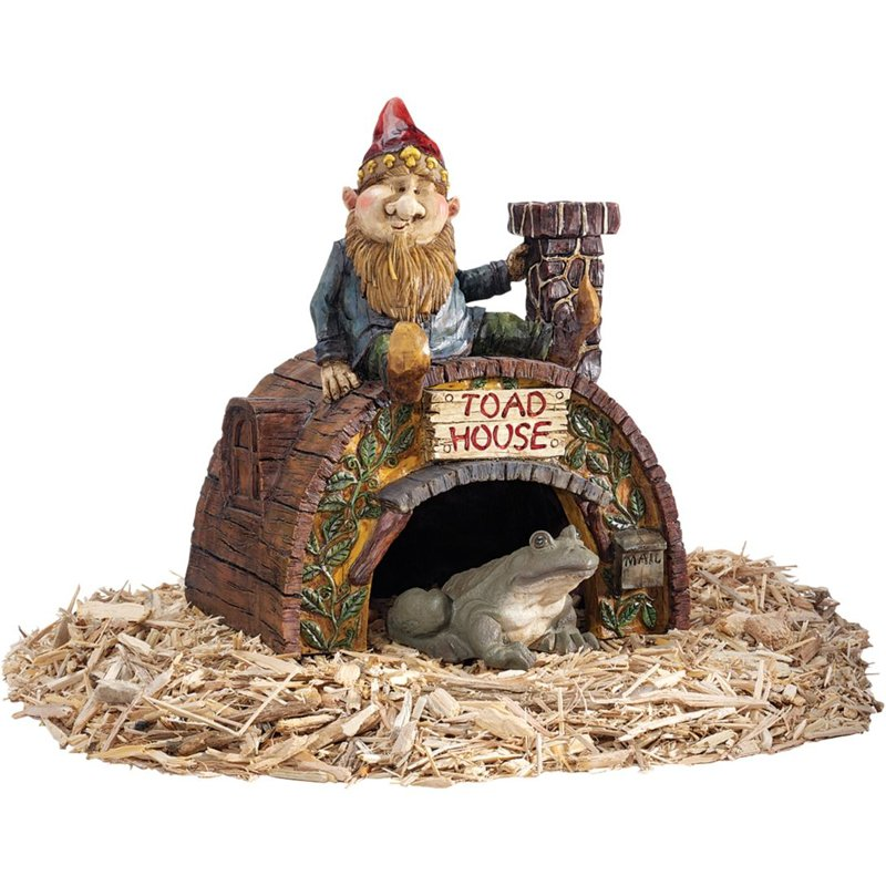Design Toscano Garden Gnome's Toad House Statue by Design Toscano