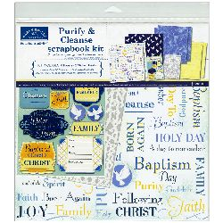 Baptism Boy Scrapbook Page kit