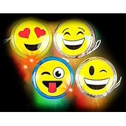 Emoji Yoyo  4 Pack Light Up Faces Yellow Smiling Yo-Yos - Easter or Everyday Kids Toy, Gift Or Party Favor - By Kidsco