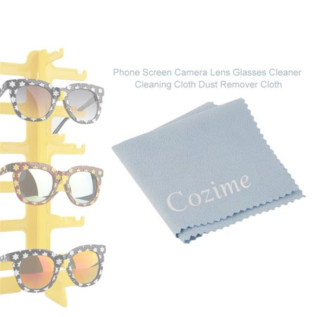Phone Screen Camera Lens Glasses Cleaner Cleaning Cloth Dust Remover Cloth Fashion Tools Accessories Light Blue - image 3 of 7