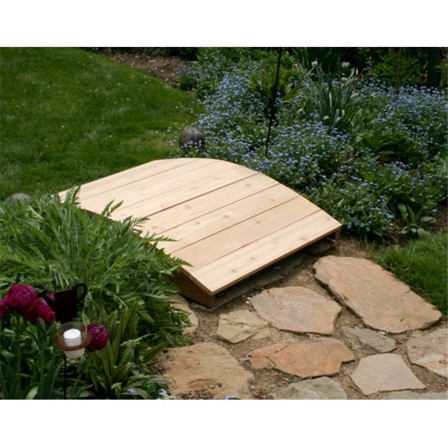 Creek Vine Designs WRF1203-2CVD 3 ft. Cedar Plank Bridge