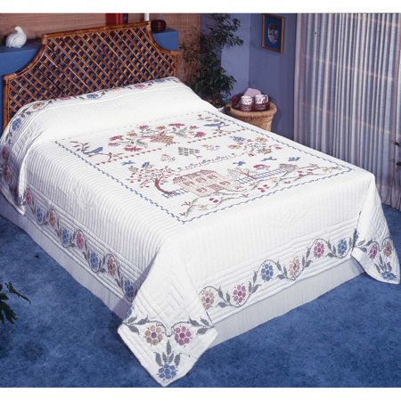 Herrschners® Homestead Quilt Top Only Stamped Cross-Stitch